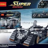 Decool 7116 DC Heroes Series Batman The Ultimate collection version of the bat Chariot Building Bricks Toys