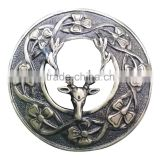 Stag Design Piper Plaid Brooch In Antique Finish Made Of Brass Material