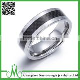 High quality jewelry black carbon fiber tungsten ring popular items tungsten ring for men