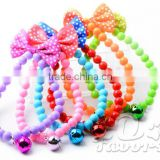 Colorful Beaded Bracelet with Bow Dog Necklace Jewellery Pet Collars Pet Products