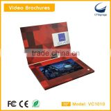 10.1 inch lcd video brochre card new arrival for advertise player ,lcd video module for education video in print technology