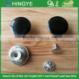Black Enamelled Removable Metal Jeans Tack Button For Jeans / Jackets -- J1541