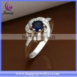 Alibaba whoelsale price blue zircon stone cheap price wholesale value 925 silver ring (CR337)