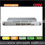ONV 24 Port Ethernet POE Switch with 24x10/100/1000M PoE Ports and 2 Gigabit SFP Uplink Fiber Ports(IEEE802.3af,15.4W)