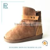 Elegant lovely fashionable suede fabric cashmere boots for women