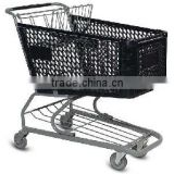 Plastic shopping cart, price of a supermarket cart,wholesale plastic hand shopping trolley