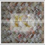 2014 factory price flower glass mosaic pattern for construct decoration