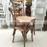 event use wood cross back chair
