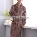 Autumn and winter coral fleece velvet bathrobe robe thickening flannel robe bathrobes men lounge sleepwear bathrobes male