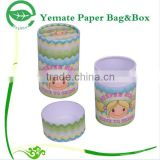 high ending customized cylinder tube derocative gift paper cardboard box color printing for cosmetic nail polish