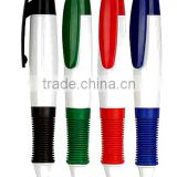 High quality School stationery rubber grip ball pen Plastic ballpoint pens promotional plastic ball pens