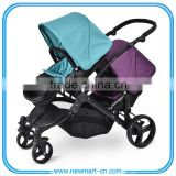 2016 new Twin pushchair double stroller pram tandem twin stroller pram pushchair EN1888:2012 certificate