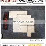 White Marble Polished Roman Pattern Mosaic Tiles