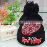 wholesale custom High quality fashion warm beanie hat for unisex/ mens cross stitch beanies