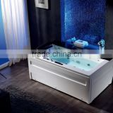 K-601 alibaba china luxury acrylic massage bath tub, whirlpool hydromassage bathtub with lights, color change massage bathtub