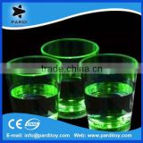 Bar promo liquid activated led light up shot glasses