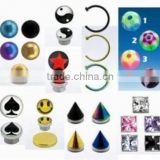Fake Nose Lip Belly Tragus Tongue Piercing Magnetic Stud Ring