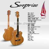 "wholesale&OEM 40"" 41"" inches cheap price colourful guitar for kids beginner student acoustic guitar"