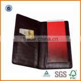 Handmade OEM/ODM cheque book holder wallet,custom cheque book holder with pen loop,factory price cow leather checkbook organizer