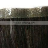 Indian hair skin weft/double side tapes hair extension -the best price from factory directly