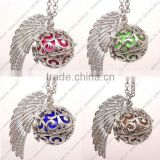 FN3201 Angel sound ball for baby shower jewelry gift, tortoise shape cage necklace