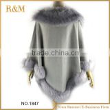 2016 Fashion design new cape poncho women suede fringe shawl scarf