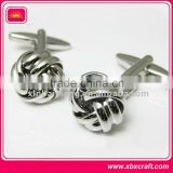 fashion zinc alloy chinese knot design metal button cufflinks