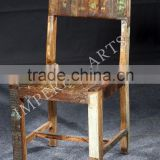 ANTIQUE LOOK RECYCLE WOODEN CHAIR, FOR HOME FURNITURE