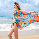 Ladies Chiffon Sarong Scarf Dress Wrap Pareo Beach Bikini set Cover up Swimwear