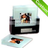 Blank Clear glass acrylic coasters and photo coasters with clear plastic coasters