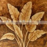 gold foil oil painting xd-01091 (handmade canvas painting, abstract painting, flower painting,modern painting)