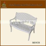 Hot sale! SH020 Cast Aluminum outdoor furniture bench jewellery shop furniture coffee shop furniture