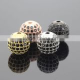 Round Brilliant Cut CZ Diamond Zircon Beads for Pendants or Charms Loose Black Zirconia Balls
