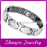 Hot selling mens jewelry tungsten energy healthy stainless steel magnetic watch bracelet made in China