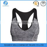 mesh splice sports bra padded sexy yoga bra fitness clothing with Rri-Fit design for medium-impact sports