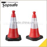 Best Selling Rubber PVC 25*25CM Base Miniature Safety Cones