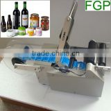 Semi Automatic Self Adhesive Small Round Bottle Label Printing Machine with Date Printer