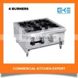 Tabletop Portable 4 Burners Stainless Steel Cooker Units Gas Stove Kitchen Cooking Appliances