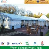 Huge aluminum temporary outdoor storage tent with ABS solid wall for warehouse for different ground condition