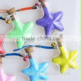 Star shape glass vials mini message in small glass bottles with cork