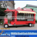 2016 professional design trucks type hot dogs & ice cream carts food automatic operate food trailer with water system