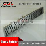 304 316 tile insert flexible rectangular linear shower drain