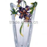 RORO Felicity iris enamel crystal glass decorative vase flower receptacle