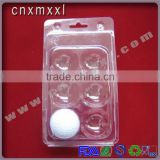 6, 12-packing clear Golf ball blister plastic packaging tray can accept custom design