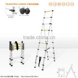 7+9 scalene double Telescopic ladder 16 steps (aluminium+plastic) 2.6METERS