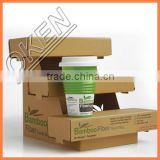 Disposable bamboo fiber cup coffee cup china supplier