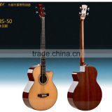 Fashion design A grade spruce & sapele 4 strings wood bass guitars
