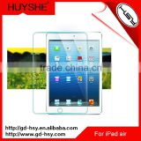 HUYSHE bullet proof screen proctector retail packaging 9h hardness screen film for ipad air/5