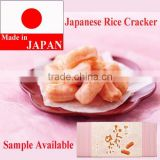 Tasty and Japanese shrimp flavored rice crackers snack food , sample available