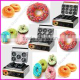 Hot Sale Professional Industrial Automatic Commercial Stainless Steel Electric/Gas Portable 5,6,12 waffle donut maker